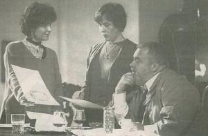 De izquierda a derecha, Anna Güell, Ángels Poch i Carles Canut