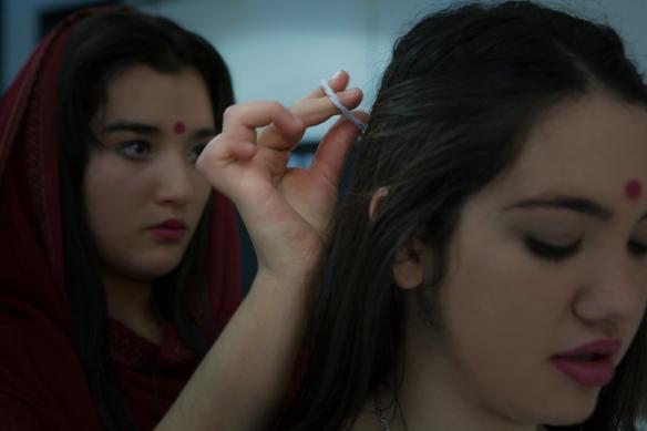 Preparándose para la función. Foto: Vicente López Tofiño