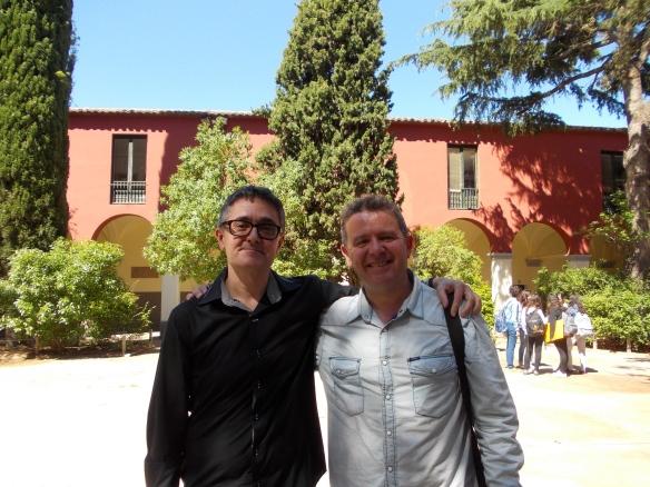 Amb Joan Manuel Soldevilla, professor de Llengua Espanyola a l' IES Ramon Muntaner