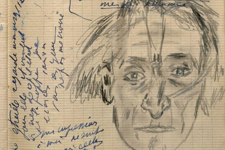 Página del libro de notas de Artaud